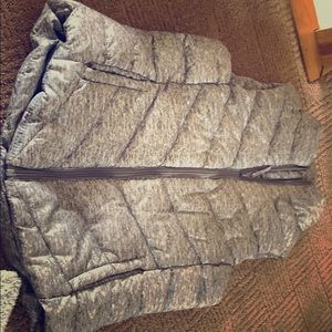 Woman's small grey puffer vest